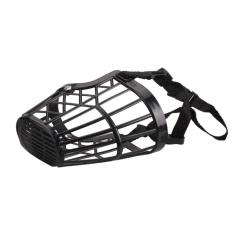 Nylon Basket Cage Adjustable Pet Dog Muzzle Black Size-6 black one