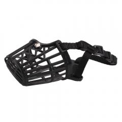 Nylon Basket Cage Adjustable Pet Dog Muzzle Black Size-2 black one