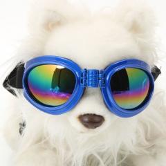 Fashionable Decorative Practical Resin Dog Sunglasses blue one