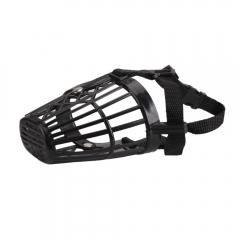 Nylon Basket Cage Adjustable Pet Dog Muzzle Size-1 2 3 4 5 6 7 black #4