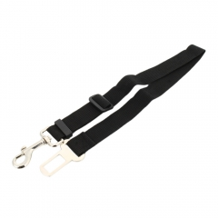 Dog Car Seat Belt Adjustable Pet Cat Dog Safety Leads Car Seat Belt black one