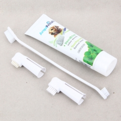 Safe and Effective PP Plastic Toothbrush and Toothpaste for Dog white one