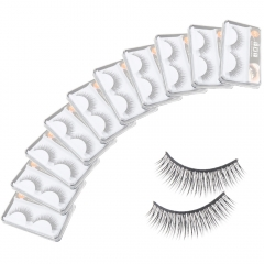10 Pairs Natural Long Eye Lashes Makeup Handmade Thick Fake False Eyelashes Set black