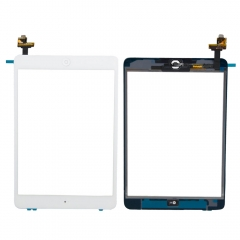 Touch Screen Digitizer With IC Home Button Sticker Replance For Apple iPad Mini white one size