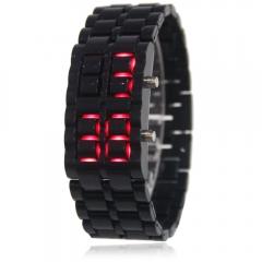 Cool Men's Lava Samurai Watch LED Digital Faceless Bracelet Wristwatch black one size