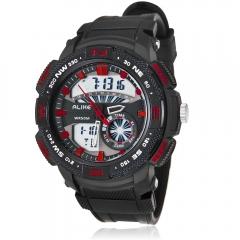 Alike AK15113 Watch Multi-functional 50m Waterproof LED Night Light Watch red one size