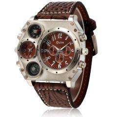 Luxury Quartz Sport Military Stainless Steel Dial Wrist Watch Men brown one size