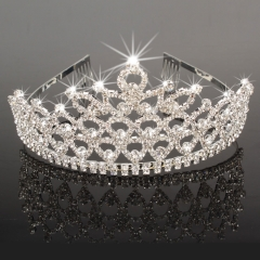 New Wedding Bridal Rhinestone Crown Headband Jewelry Tiara Hairband Clip Pin