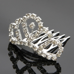 New Wedding Bridal Comb Tiara Rhinestone Crystal Crown Princess Hair Headband