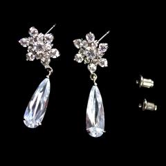 Snowflakes Pendant Zircon Earrings silver normal