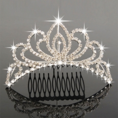 Wedding Bridal Tiara Prom Rhinestone Crystal Hair Pin Comb Crown Hair Jewelry