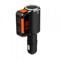 BC09 Car MP3 Audio Player Dual USB Output Bluetooth FM Transmitter Handsfree Kit black one size