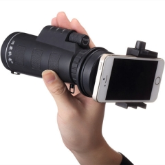 10x40 Hiking Concert Camera Lens Zoom Telescope Moncular Smart Phone Holder black one 42mm