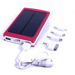 30000mAh Portable USB Battery Charger Solar Power Bank for Mobile Phone PDA red 30000