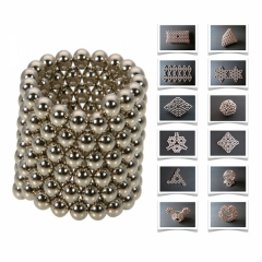 250pcs 5mm DIY Buckyballs Sphere Magnetic Balls Magic Cube Intelligence Toy silver one