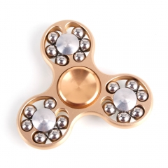 18 Beads EDC Hand Spinner Gadget Finger Spinner Fidget Focus Gadget Metal golden one size
