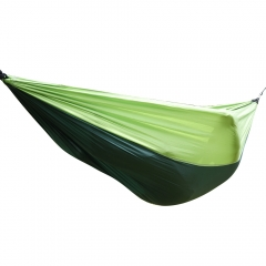 Outdoor Portable Parachute Nylon Fabric Hammock for Two Person Travel Camping green one
