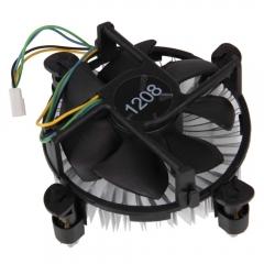 4Pin Computer CPU Fan with Heatsink for PC Intel Core2 LGA Socket LGA775 black one size