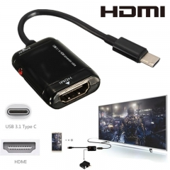 USB-C Type C to HDMI Adapter USB 3.1 Cable For MHL Android Phone Tablet black one size