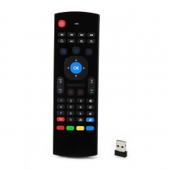 2.4G Wireless Air Fly Mouse Keyboard Remote Control for Android TV PC black