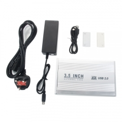 "3.5"" SATA HDD External Case Enclosure 3.5 inch Hard Drive Disk USB 2.0 black one size"
