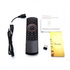 Hebrew Language i25 RF Wireless Keyboard Remote Controls for Smart TV Box PC black