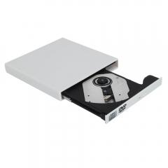 USB 2.0 Slim External DVD Combo CD±RW Burner Drive CD DVD ROM for PC Laptops white one size