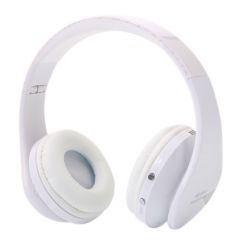 Foldable Wireless Stereo Bluetooth Headsets Headphones For Huawei HTC Smart Phone white