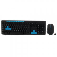 Gaming Wireless 2.4G Keyboard and Mouse Set Kit for Laptop PC Multimedia Game black one size