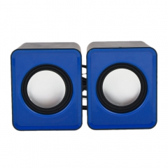USB 2.0 Power Computer Mini Speaker for Desktop PC black & blue