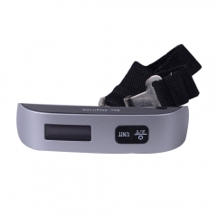 50Kg 10g  LCD Luggage Hanging Digital Pocket Scale with Auto off as picture show one size