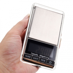 Mini 300g 0.01g Digital Jewelry Scale Weight Electronic Pocket + Carrying Pouch silver mini
