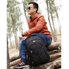 "Hot Waterproof Swiss Travel Backpack Men Women 15.6"" Laptop Outdoor School Bag black one size"