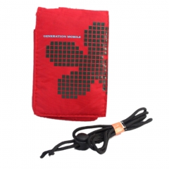 Waterproof Mosaics Pattern Soft Pouch for Mobile Phone MP3 MP4 with Cover red one size