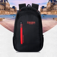 "Swiss Waterproof Backpack Travel for 15"" Inch Laptop Backpack Men Women Bags red one size"