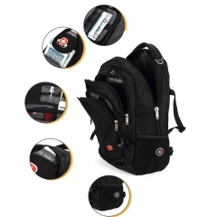 Swiss Gear Men Women Laptop Notebook Shoulder Backpack Rucksack Travel Bag black one size