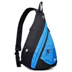 Fashionable Men Splatterproof Zipper Chest Bag Waterproof Shoulder Backpack blue one size