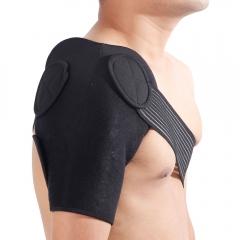 Adjustable Shoulder Brace Support Strap Wrap Belt Dislocation Pain Neoprene Band black