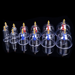 12PCS Kangzhu Health Care Chinese Medical Vacuum Cupping Therapy Massager Set as picture