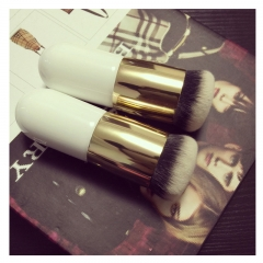 1PC White Color Gold Tube Professional Small Fat Foundation Make up Brush Tool as picture