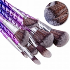 8pcs Exquisite Thread Handle Nylon Fiber Cosmetic Makeup Brushes Kit as picture