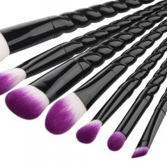 GUJHUI 7pcs Exquisite Thread Handle Nylon Fiber Cosmetic Makeup Brushes Kit as picture