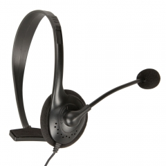 Black Slim Small Headset With Noise Canceling Microphone For Xbox 360 Live black