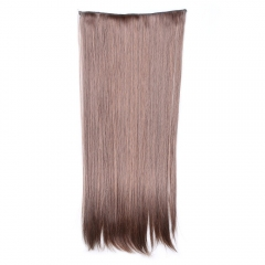 Fashion Long Straight Charming Light Brown Heat Resistant Synthetic Hair Extension For Women LIGHT BROWN 64cm