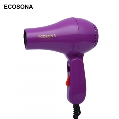 ECOSONA ES - 650 Foldable Portable Mini Traveller Compact Blower Hair Dryer PURPLE 850W