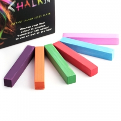 Fashion 6 Colors Soft Pastels Salon Kit Fast Temporary Short Hair Dye Chalk COLORFUL