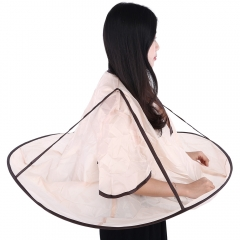 Adult Hair-Cutting Cloak Salon Hairdresser Haircut Bib Apron Brown One Size