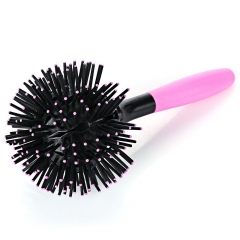 Hairbrush New Spherical 3D Spherical Massage Curl Haircut Comb Easy To Carry Comfortable Hairbrush Pink One Size