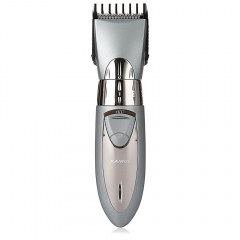 High Quality Rechargeable Hair Trimmer Cutting with cutting length control wheel Electric Hair Razor SILVER hair trimmer