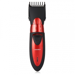 High Quality Rechargeable Hair Trimmer Cutting with cutting length control wheel Electric Hair Razor Red hair trimmer